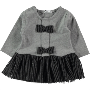 Miss Tuffy 9-24 Months Baby Girl Gray Dress