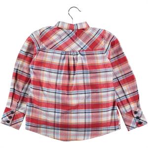 Timo Kız Çocuk Gömlek 6-9 Yaş Kırmızı (2)