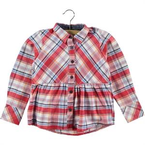 Timo Kız Çocuk Gömlek 6-9 Yaş Kırmızı