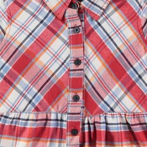 Timo Kız Çocuk Gömlek 6-9 Yaş Kırmızı (3)