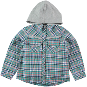 Timo Mint Green Hooded Shirt Age 6-9 Girl
