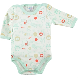 Misket Mint Green Baby 1-18 Months Bodysuit With Snaps