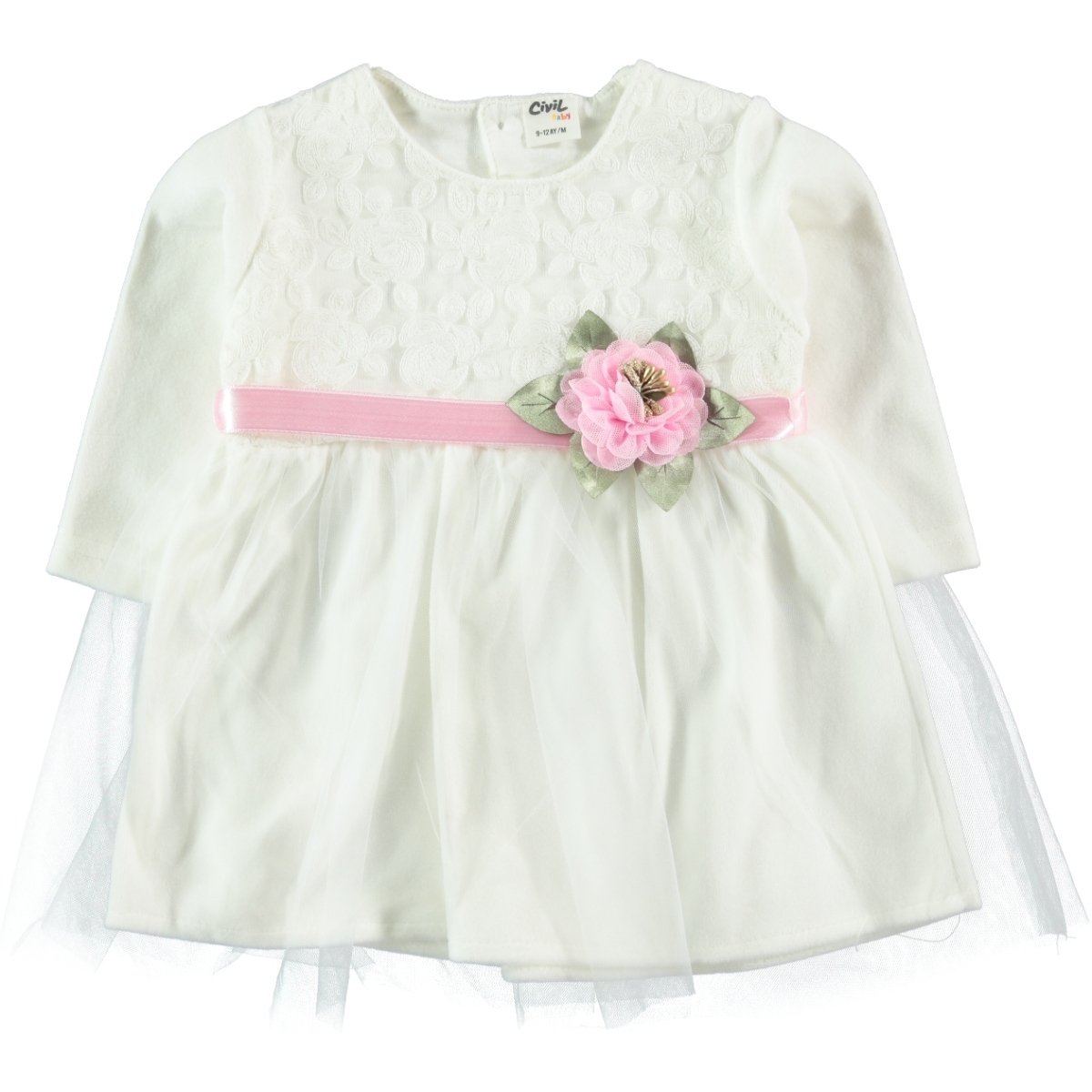 Civil Baby Pink Girl Baby Dress 9-18 Months