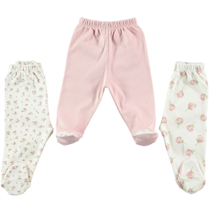 Civil Baby Baby girls 3-baby booty powder pink, 0-3 months single child oh