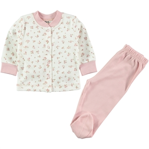 Civil Baby A Pajama Outfit Baby Girl 0-6 Months, Powder Pink