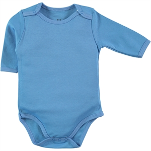 Kujju Combing 3-9 Months Blue Bodysuit With Snaps