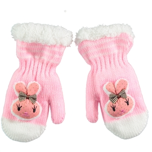 Suve Baby Girl 0-24 Pink Gold Gloves What