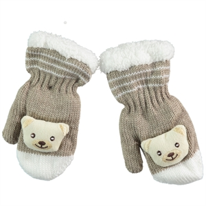 Suve What Is Gold Gloves Beige Baby Boy 0-24 (1)