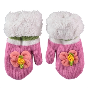 Suve Gold Gloves Fuchsia 0-24 Months, Baby Girl Accessories