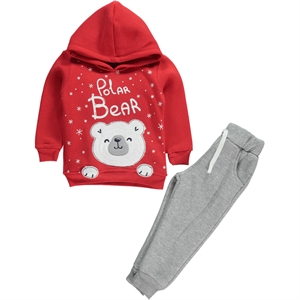 Civil Boys Boy Red Sweat Suit 2-5 Years