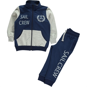 Cvl Boy's Navy Blue Sweat Suit 2-5 Years