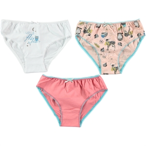 Civil Girls Panties girl child 3-the ages of 2-10 Set Salmon