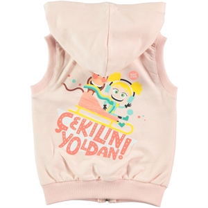 Tinky Powder Pink Hooded Vest Girl Age 1-5 (3)