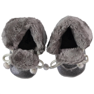 Funny Baby 16-19 Gray Pompom Baby Booties Girl Number