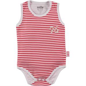 Kujju 12-24 Months Baby Boy Red Bodysuit With Snaps