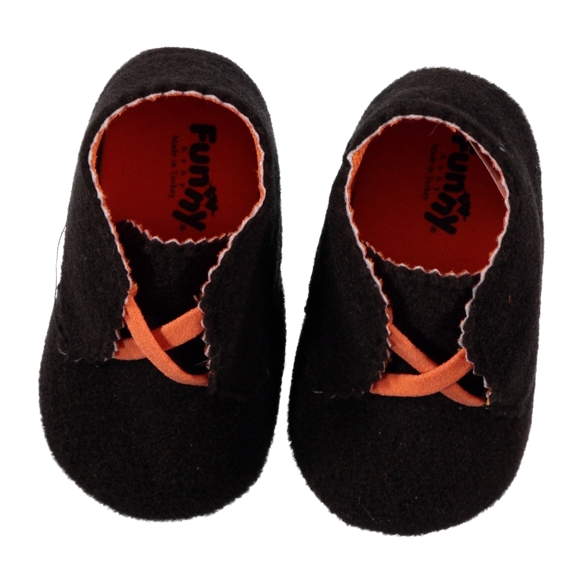 Funny Baby Brown Baby Boy Booties 16-19 Number