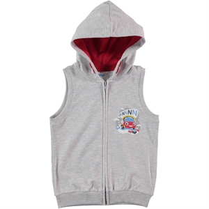 Düt Düt Boy's Gray Hooded Vest 2-5 Years