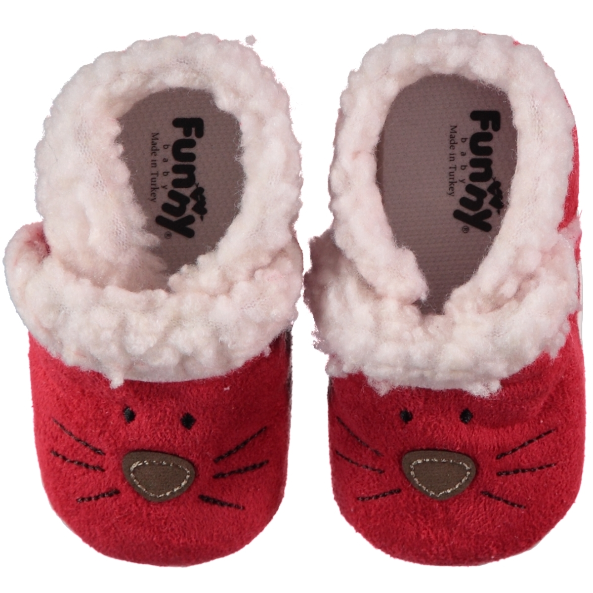 Funny Baby Baby Girl Booties Red Peluslu 16-19 Number