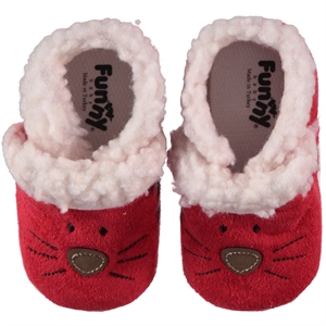 Funny Baby Baby Girl Booties Red Peluslu 16-19 Number (1)