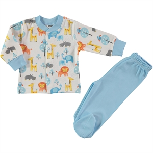 Civil Baby A Pajama Outfit Baby Boy 0-6 Months Turquoise