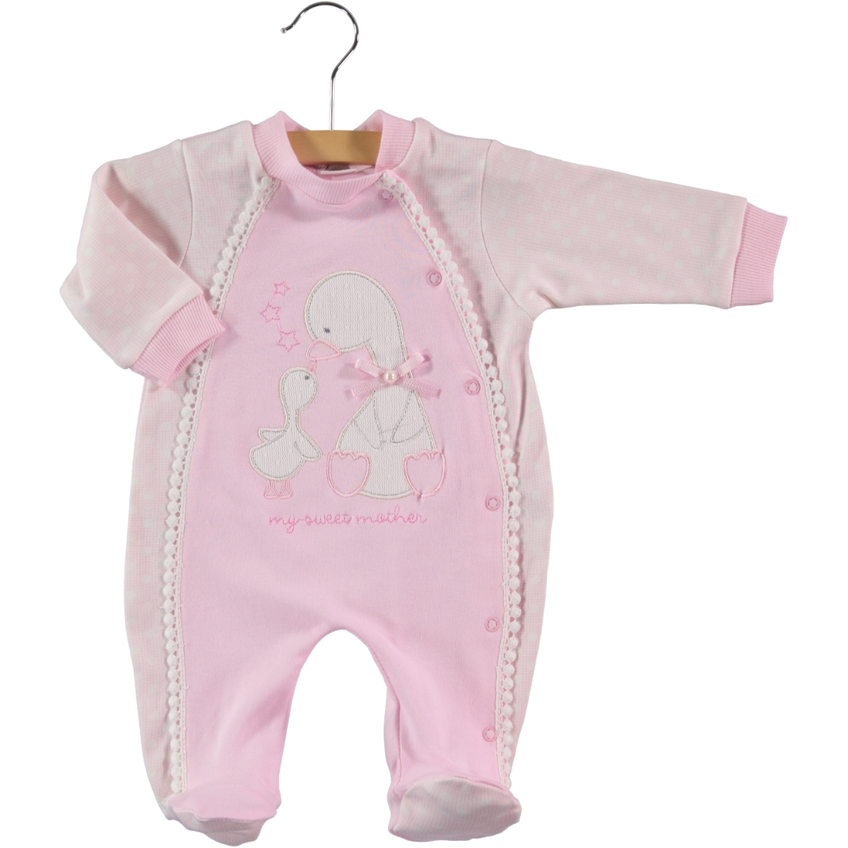 Civil Baby Oh Baby Booty Pink Baby Girl Overalls 0-3 Months