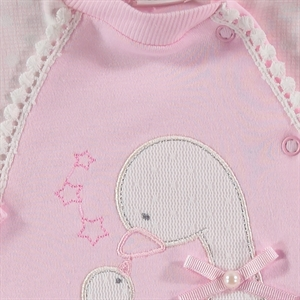 Civil Baby Oh Baby Booty Pink Baby Girl Overalls 0-3 Months (2)