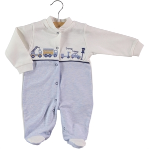 Civil Baby Oh Baby Boy Overalls 0-3 Months Blue Baby Booty
