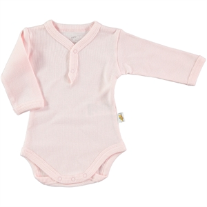 Minidamla 0-12 Months Baby Pink Bodysuit With Snaps (1)