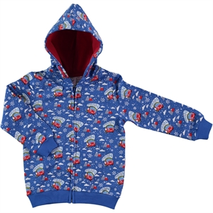 Düt Düt 2-5 Years Blue Boy Hooded Cardigan Saks