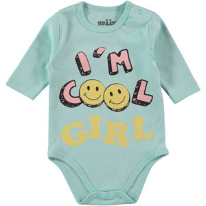 Kujju 0-1 Month Baby Girl Mint Green Bodysuit With Snaps