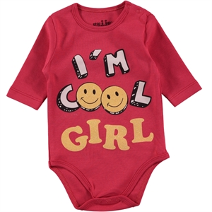 Kujju Tongue In Cheek 0-1 Month Baby Girl Bodysuit With Snaps