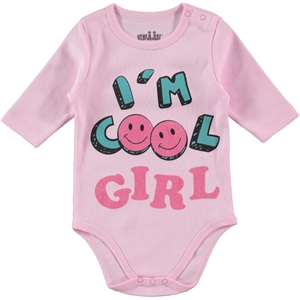Kujju 0-1 Month Baby Girl Pink Bodysuit With Snaps