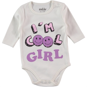 Kujju Ecru Baby Girl 3-9 Months Bodysuit With Snaps