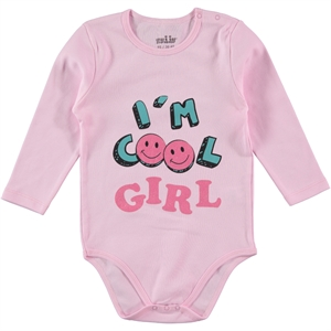 Kujju 30-36 Months Baby Girl Pink Bodysuit With Snaps