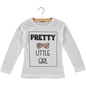 Cvl Penye Kız Çocuk Sweatshirt 6-9 Yaş Beyaz