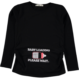 Civil Pregnant T-shirt m-XXL size black