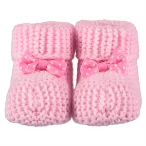 Civil Records Baby Booties 0-6 Months Pink