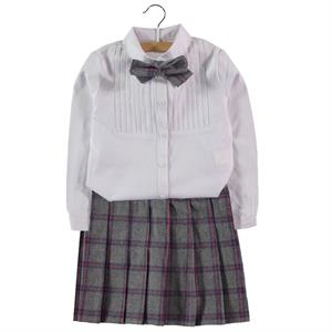 Missiva Girl With Gray Plaid Skirt Suit 2-5 Years