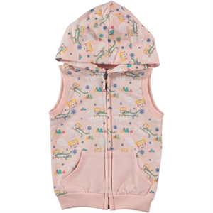 Tinky Powder Pink Hooded Vest Girl Age 1-5