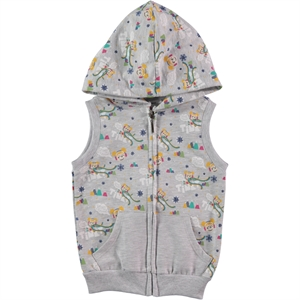 Tinky Girl's Hooded Vest, Grey 1-5 Years
