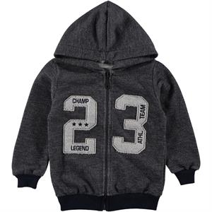 Cvl 2-5 Years Boy Hooded Cardigan Antracite