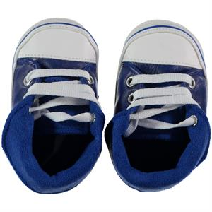 First Step Baby Girl Booties In Navy Blue Number 17-19