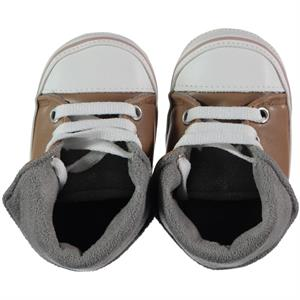 First Step Beige Baby Girl Booties 17-19 Number