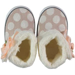 Baby Pattini Beige Baby Girl Booties 17-19 Number