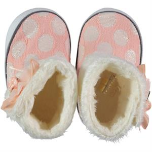 Baby Pattini Baby Girl Booties Light Tan Number 17-19