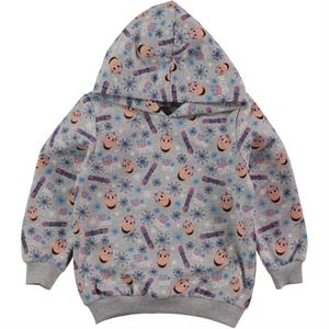 Kukuli Boy Gray Hooded Sweatshirt 1-5 Years