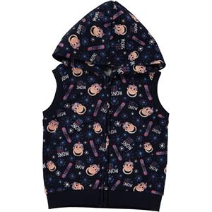 Kukuli Boy Navy Blue Hooded Vest 2-5 Years