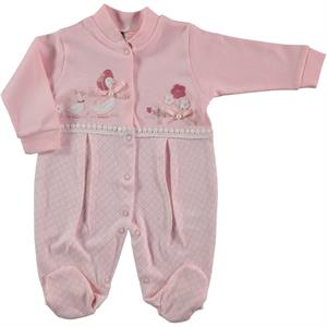 Civil Baby Oh Baby, Booty Baby Girl Overalls 0-3 Salmon