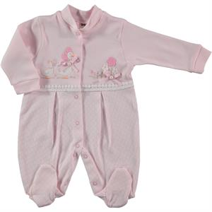 Civil Baby Oh Baby Booty Pink Baby Girl Overalls 0-3