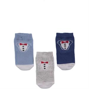 Minidamla Baby boy 3-set of IndiGo socks 0-6 months